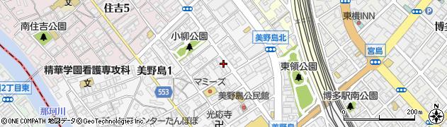 福岡県福岡市博多区美野島1丁目9-3周辺の地図