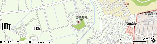 土師六公民館周辺の地図