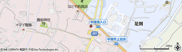 大分県中津市上如水1314周辺の地図