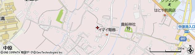 大分県中津市上如水468周辺の地図