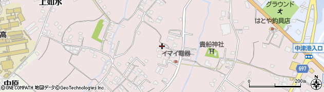 大分県中津市上如水467周辺の地図