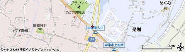大分県中津市是則744周辺の地図