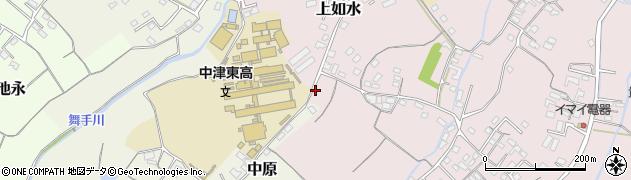 大分県中津市上如水158周辺の地図