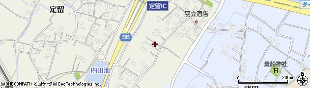 大分県中津市定留244周辺の地図