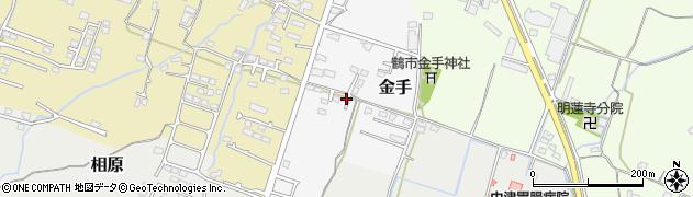 大分県中津市金手165周辺の地図