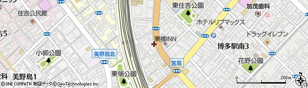 公務員ゼミナール 福岡校周辺の地図