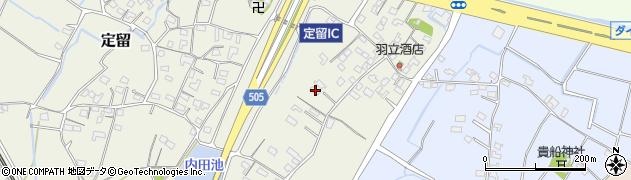 大分県中津市定留251周辺の地図