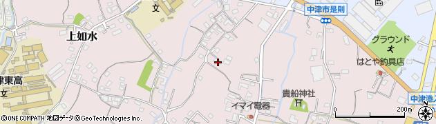 大分県中津市上如水405周辺の地図