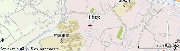 大分県中津市上如水33周辺の地図