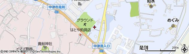 大分県中津市是則730周辺の地図