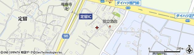 大分県中津市定留周辺の地図