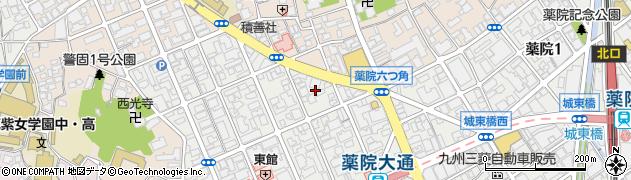 福岡県福岡市中央区薬院2丁目14周辺の地図