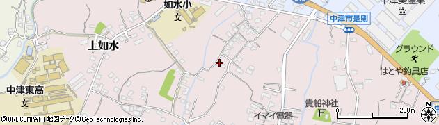 大分県中津市上如水415周辺の地図
