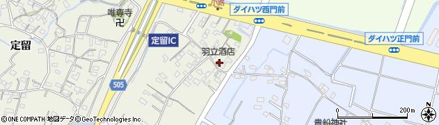 大分県中津市定留281周辺の地図