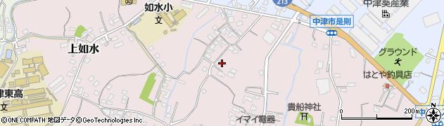 大分県中津市上如水399周辺の地図