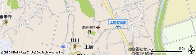 土居一区公民館周辺の地図
