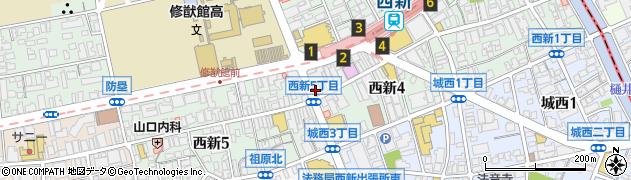 眼鏡市場福岡西新店周辺の地図