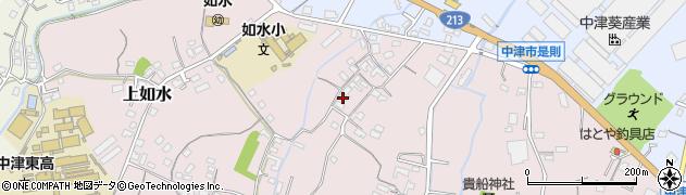 大分県中津市上如水412周辺の地図