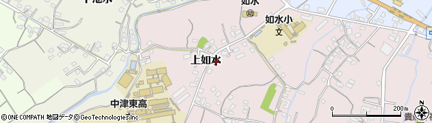 大分県中津市上如水134周辺の地図
