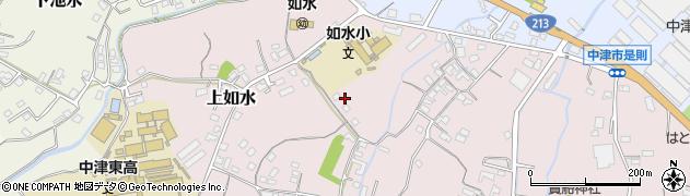 大分県中津市上如水195周辺の地図