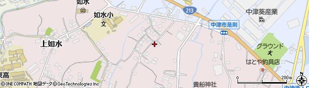 大分県中津市上如水390周辺の地図