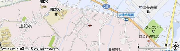 大分県中津市上如水376周辺の地図