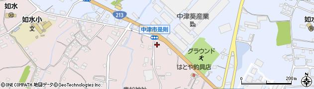 大分県中津市上如水1234周辺の地図