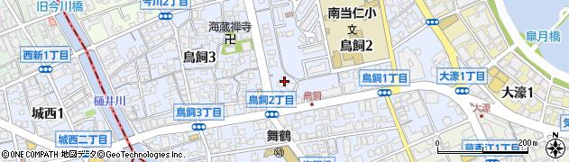 福岡県福岡市中央区鳥飼周辺の地図