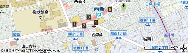 株式会社西部宝不動産西新店周辺の地図