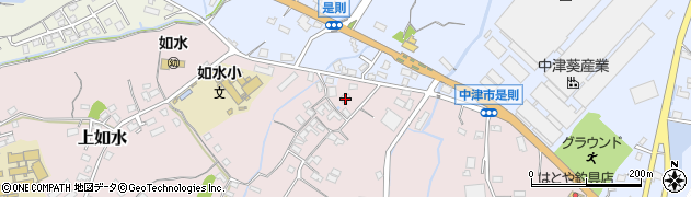 大分県中津市上如水366周辺の地図