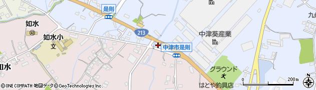 大分県中津市是則656周辺の地図