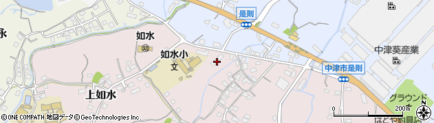 大分県中津市上如水106周辺の地図