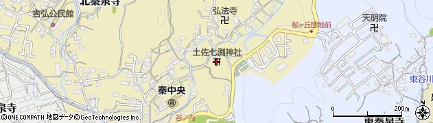 土佐七渕神社周辺の地図