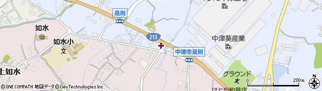 大分県中津市是則632周辺の地図