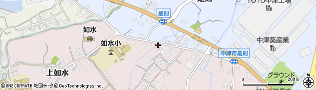 大分県中津市上如水203周辺の地図
