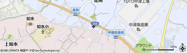 大分県中津市是則640周辺の地図
