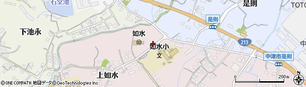 大分県中津市上如水81周辺の地図