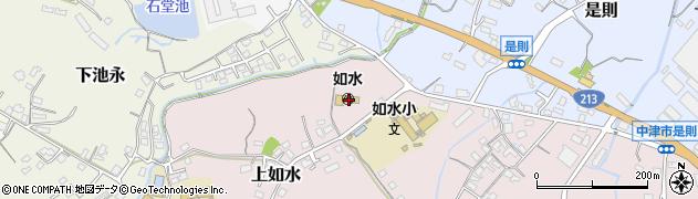 大分県中津市上如水83周辺の地図