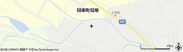 大分県国東市国東町中田上中田周辺の地図