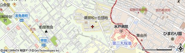 福岡県志免町(糟屋郡)松ケ丘周辺の地図