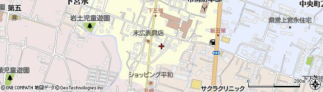 大分県中津市上宮永302周辺の地図