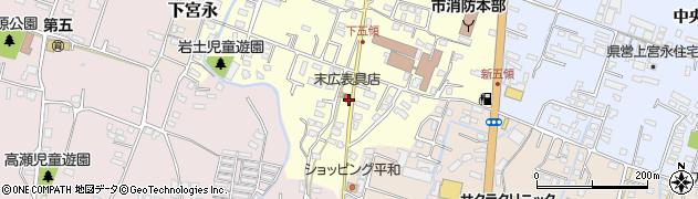 大分県中津市上宮永305周辺の地図