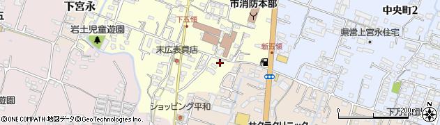 大分県中津市上宮永336周辺の地図