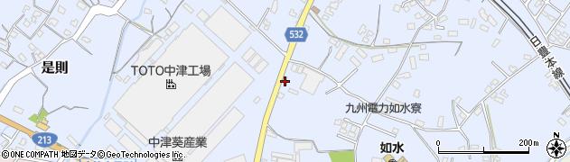 大分県中津市是則1053周辺の地図