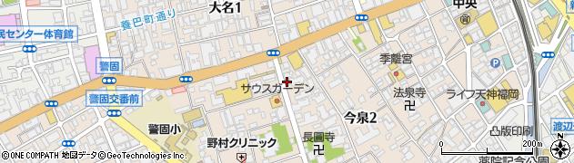 株式会社KATSUKI福岡店周辺の地図
