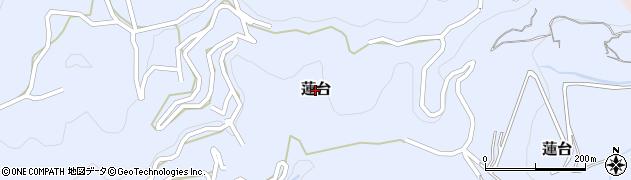高知県高知市蓮台周辺の地図