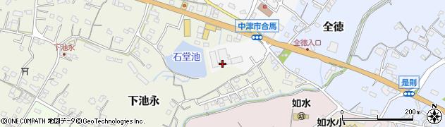 大分県中津市合馬2周辺の地図