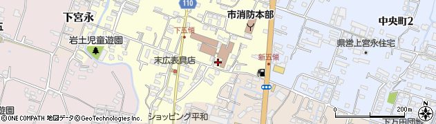 大分県中津市上宮永347周辺の地図