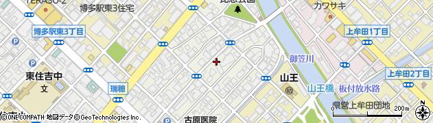 福岡県福岡市博多区比恵町周辺の地図