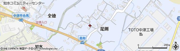 大分県中津市是則106周辺の地図